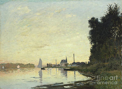 Town Painting - Argenteuil In Late Afternoon by Claude Monet