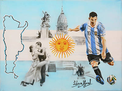 Painting - Argentina by Shawn Morrel