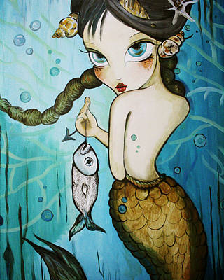 Ariel Catches Lunch Print by Dania Piotti