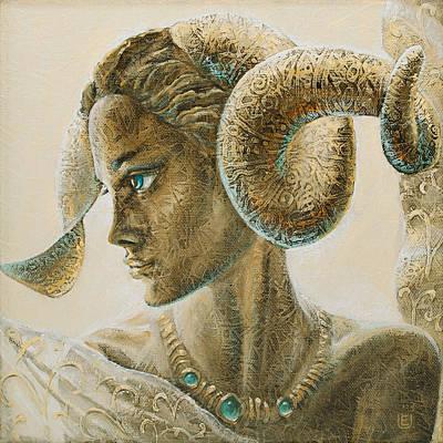 Angel Painting - Aries by Eurika Urbonaviciute