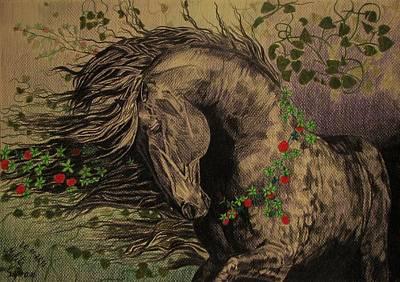 Aristocratic Horse Print by Melita Safran