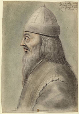 Aristotle Drawing - Aristotle Profile Left by Nicolas Lagneau