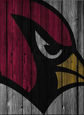 Cardinal Photograph - Arizona Cardinals Wood Fence by Joe Hamilton