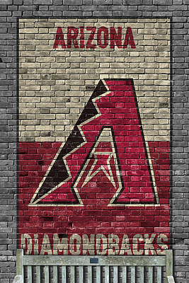 Diamondback Painting - Arizona Diamondbacks Brick Wall by Joe Hamilton