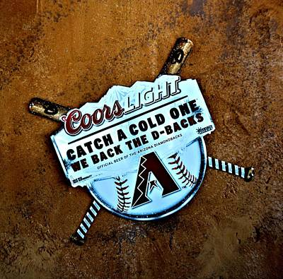 Diamondback Digital Art - Arizona Diamondbacks Logo by Richard Jenkins