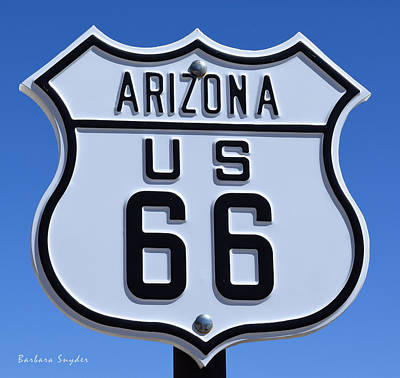 Kicked Painting - Arizona Highways Route 66 Photo by Barbara Snyder