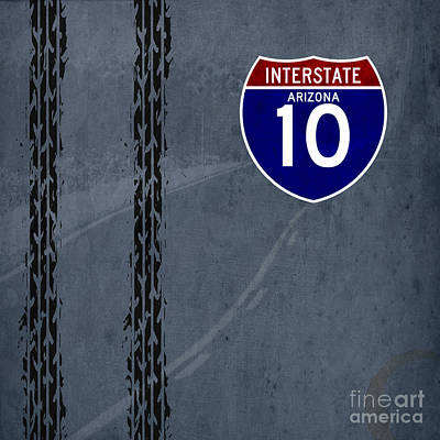 Artprint Painting - Arizona, Interstate 10, Hot Wheels by Pablo Franchi