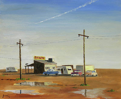 Pawn Painting - Arizona Last Chance by John Crowther