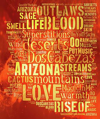 Digital Art - Arizona Love by Paulette B Wright