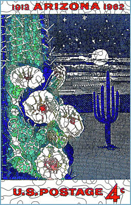Sonora Painting - Arizona Statehood by Lanjee Chee