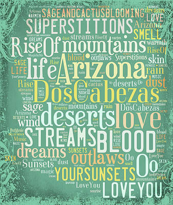Digital Art - Arizona Streams by Paulette B Wright