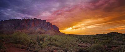 Arizona Sunset Print by Jon Berghoff