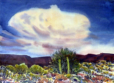 Saguaro Cactus Painting - Arizona Thunderhead by Donald Maier