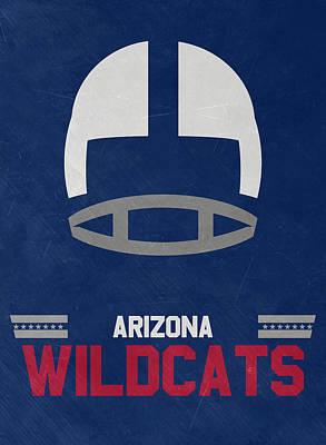 Arizona Wildcats Vintage Football Art Print by Joe Hamilton