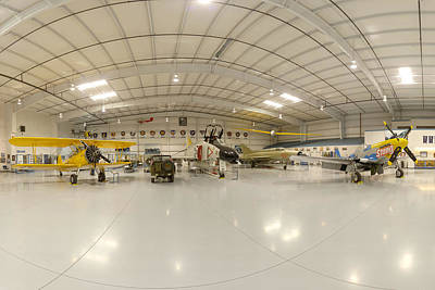 Arizona Wing Of The Commemorative Air Force Hangar March 28 2011 Print by Brian Lockett
