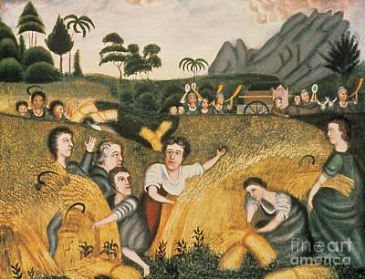 Naive Art Painting - Ark Of The Covenant by Erastus Salisbury Field