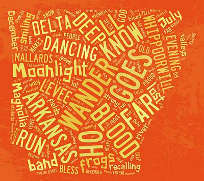 Digital Art - Arkansas - Moonlight Dancing by Paulette B Wright