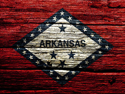 Arkansas State Flag W2 Print by Brian Reaves