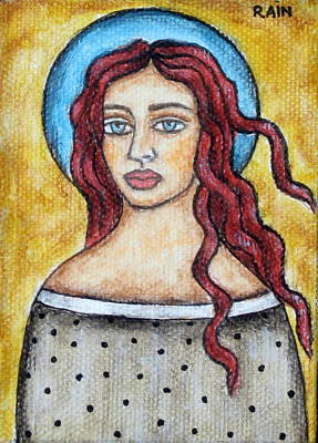 Christian Art . Devotional Art Painting - Arlene by Rain Ririn