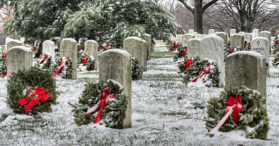 Arlington Christmas Print by JC Findley