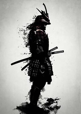 Japan Mixed Media - Armored Samurai by Nicklas Gustafsson