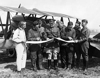 Army Air Service Pilots Print by Underwood Archives