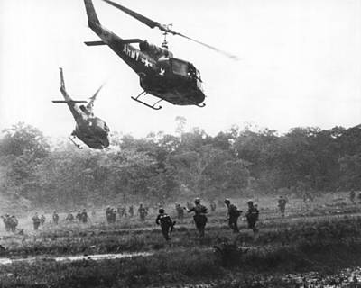 Field Of Crops Photograph - Army Airborne In Vietnam by Underwood Archives