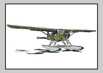 Beaver Drawing - Army Beaver by Arlon Rosenoff