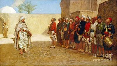 Poster Painting - Army Reorganisation In Morocco  by John Evan