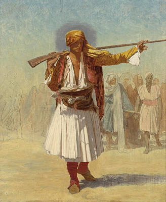 Arnaut Officer Print by Jean-Leon Gerome