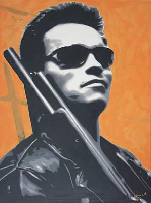 The Universe Painting - Arnold Schwarzenegger 2013 by Luis Ludzska