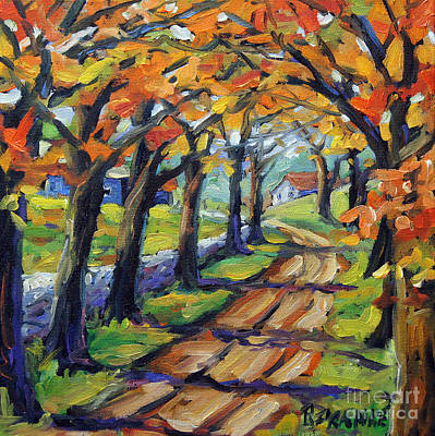 Finding Fine Art Painting - Around The Bend By Prankearts by Richard T Pranke