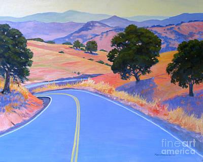 Modesto Painting - Around The Bend by Rhett Regina Owings