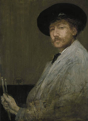 Artist Self Portrait Painting - Arrangement In Gray Portrait Of The Painter by James Abbott McNeill Whistler