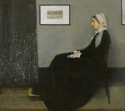 Whistler Painting - Arrangement In Grey And Black by Celestial Images