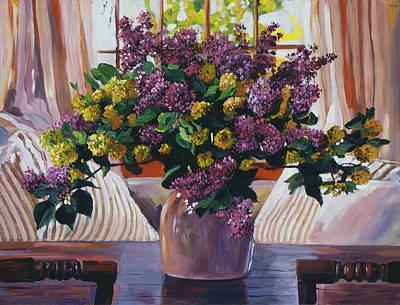 Arrangement In Lavender Original by David Lloyd Glover