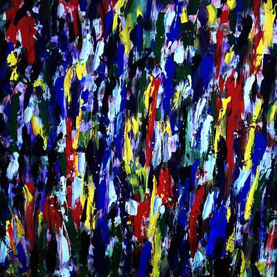 Splashy Art Painting - Art Abstract Painting Modern Color by Robert R Splashy Art Abstract Paintings