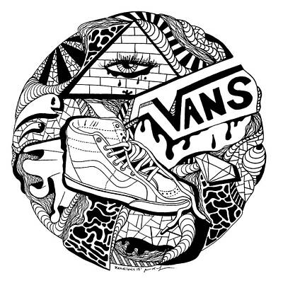 Drawing - Art Circle Vans by Kenal Louis