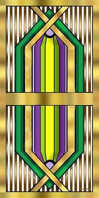 Digital Art - Art Deco 14 Vertical - Chuck Staley by Chuck Staley