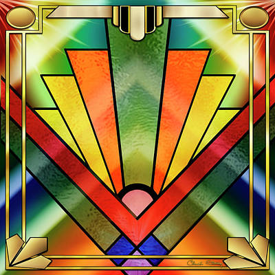 Digital Art - Art Deco Chevron 2 - Chuck Staley by Chuck Staley