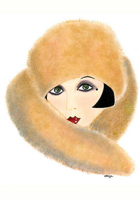 Art Deco Lady - Vivian Print by Di Kaye