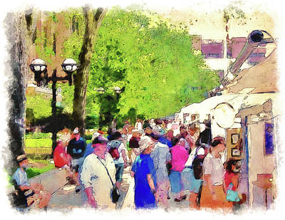 University Of Michigan Digital Art - Art Fair In Ann Arbor by Phil Perkins