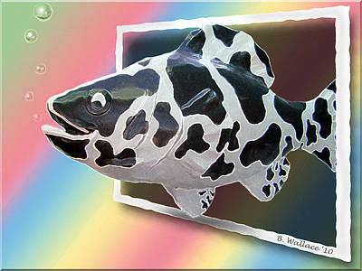 Art Fish Fun Print by Brian Wallace