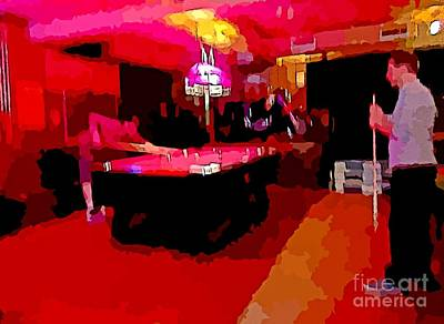 Billiards Hall Digital Art - Art For The Pool Shooter by John Malone