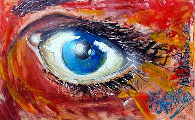Eye Brows Painting - Art In The Eyes by Marcello Cicchini
