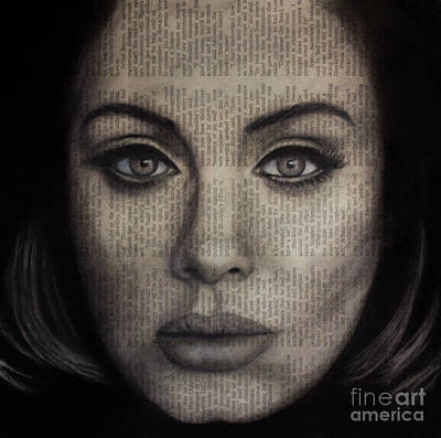 Adele Drawing - Art In The News 72-adele 25 by Michael Cross