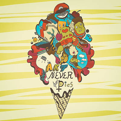 Art Never Dies Ice Cream Illustration Print by Kenal Louis