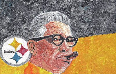 Pittsburgh Steelers Painting - Art Rooney by William Bowers