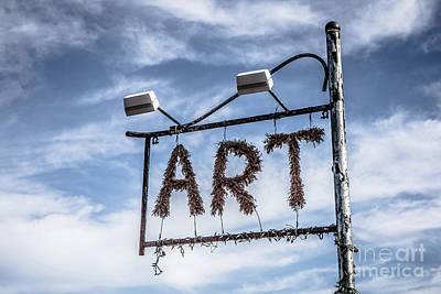 Provincetown Photograph - Art Sign by Edward Fielding