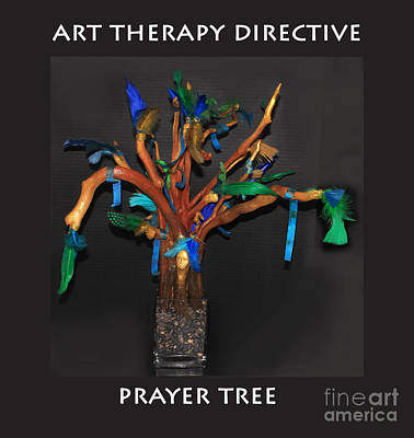 Painting - Art Therapy Directive  Prayer Tree by Anne Cameron Cutri